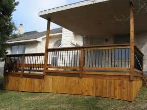 covered wood deck on mobile home home deck skirting decking and house entrance