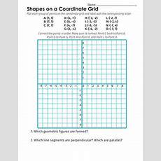 Coordinate Grid Shapes  Worksheet Educationcom
