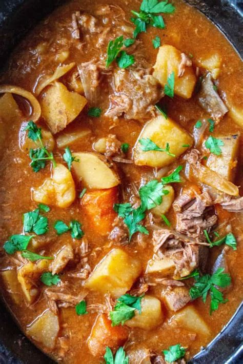beef stew slow cooker easy meat kind