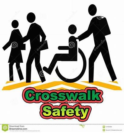 Crosswalk Safety Illustration Poster Assorted Colors