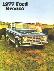 Bronco 1977 Sales Brochure 77