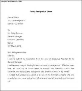Funny Resignation Letter Sample