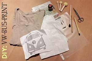 T Shirt Bemalen Schablone : diy shirt mit vw bus print tagtraeumerin ~ Frokenaadalensverden.com Haus und Dekorationen