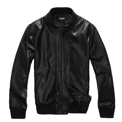 cheap motorcycle leathers motorcycle black faux mens leather jacket cheap