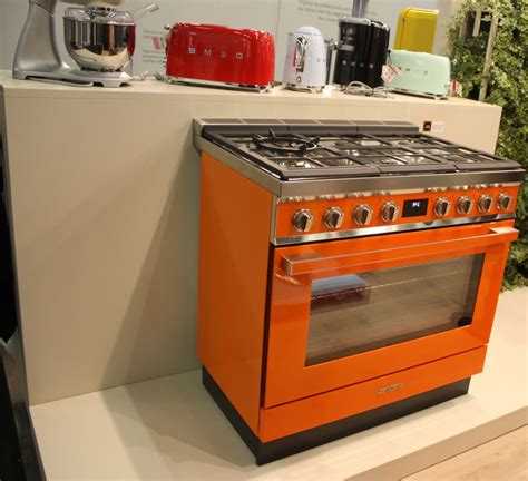 colored kitchen appliances infused  retro charm
