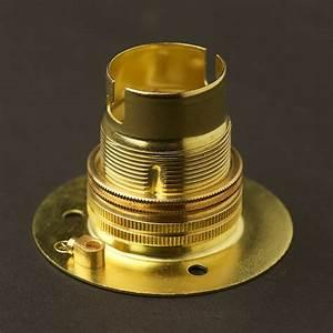 New brass batten holder bayonet b fitting