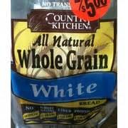 Country Kitchen Bread, Whole Grain White Calories