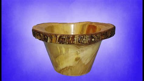 wood turning  grain  edge pear bowl youtube