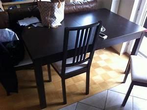 Esstisch Stühle Ikea : ikea bjursta esstisch inklusive 3 b rje st hle ikea b rje braun schwarzbraun in neufahrn ~ Avissmed.com Haus und Dekorationen