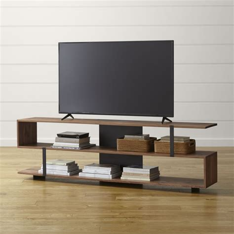 unique kitchen storage ideas 78 quot media console crate and barrel