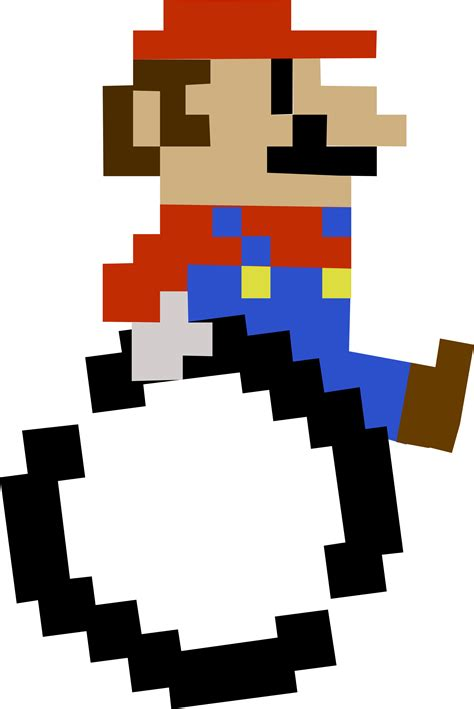 8 Bit Disabled Mario Transparent Disabled Identity