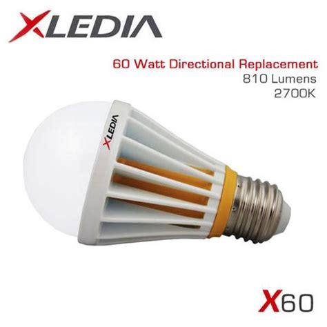 60 watt glühbirne wieviel lumen xledia d60l 60 watt equal a19 led for fully enclosed fixtures earthled