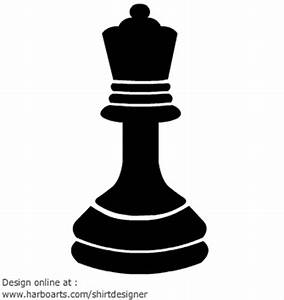 Queen clipart chess piece - Pencil and in color queen ...