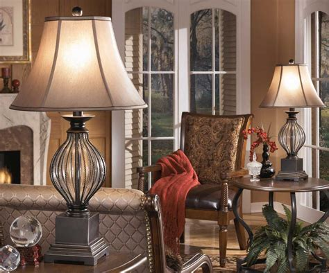 Brown Living Room Lamps Lamp Shades Naples Fl Drum Table Floor Behind Sofa T12 Ceramic Base Ott Light With Magnifier Romantic Lamps Pottery Barn Wall