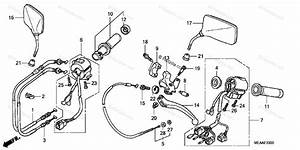 Honda Motorcycle 2009 Oem Parts Diagram For Handle Switch