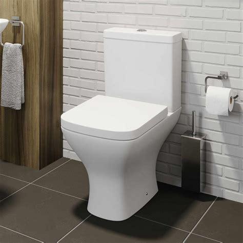 square close coupled bathroom toilet modern soft close