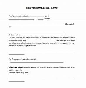 14 subcontractor agreement templates free sample for Subcontractors contract template