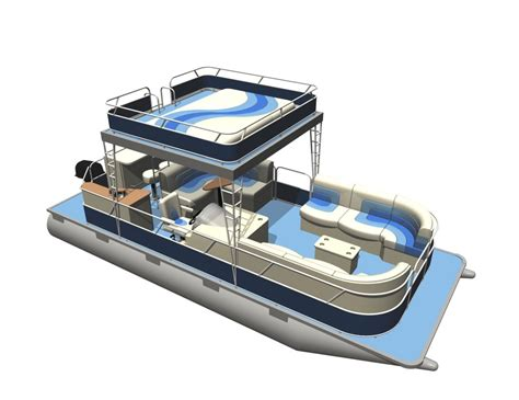 Front Of Pontoon Boat Sinking by Pontoon Boat 3ds
