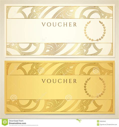 certificate voucher certificates templates
