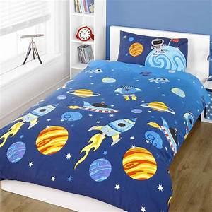 Rocket Single Duvet Quilt Cover Bedding SET – Space Solar ...