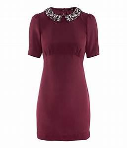 Hm dress in purple burgundy lyst for Robe bordeaux h m