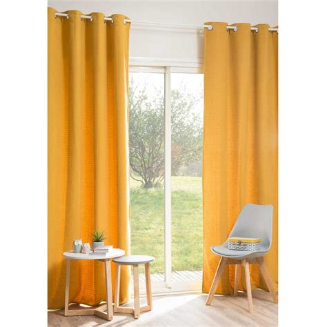 rideau jaune moutarde my blog