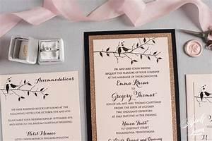 emma gregs luxury rose gold love birds wedding With handmade rose gold wedding invitations