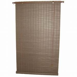 store enrouleur tamisant bois tisse brun chocolat n2 With store bois tisse exterieur