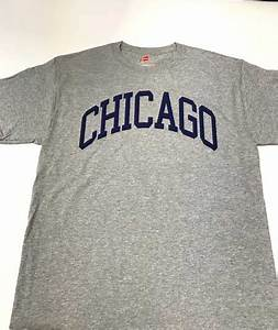 chicago bold t shirt with navy letters great chicago gifts With chicago shirt and lettering