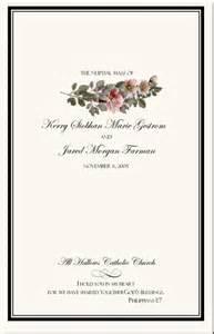 wedding bulletin covers wedding program exles wedding program wording
