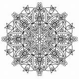 Mandala Coloring Pencil Drawing Pattern sketch template