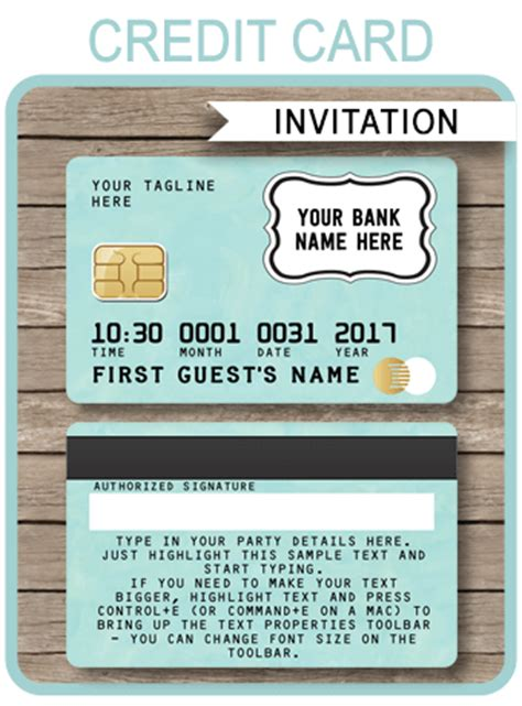 green credit card invitations mall scavenger hunt