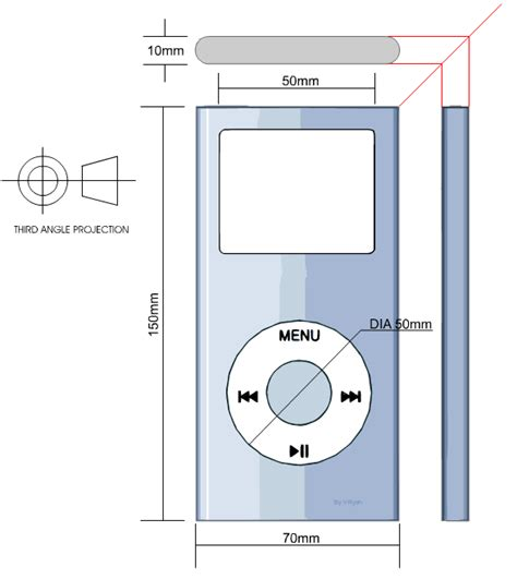 orthographic  isometric projection mp player