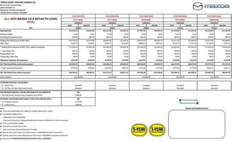 new mazda price list 2017 mazda cx 5 revised malaysian price list revealed