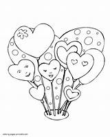 Coloring Hearts Pages Heart Printable Valentine Simple Shape Print Find Balloons Shaped Mini Templates Holiday Flowers Holidays sketch template