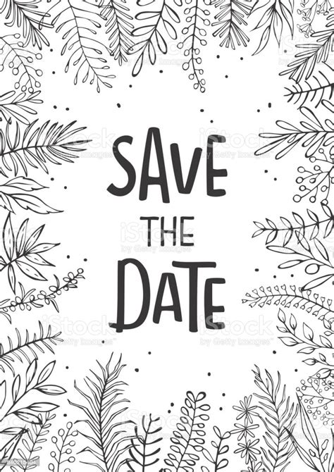 Save The Date Wedding Invitation Template Background With
