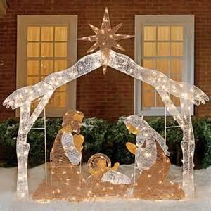 lighted nativity scene new seasonal christmas new year holiday decor freshfinds com