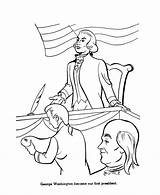 George Washington Congress Coloring Presidents Drawing Usa Continental Second President Printables Getdrawings sketch template