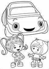 Umizoomi Coloring Team Pages Printable sketch template