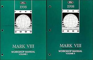 1997 Lincoln Mark Viii Service Repair Shop Set 2 Volume Set And The Electrical Wiring Diagrams