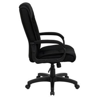 high back black fabric executive swivel office chair go