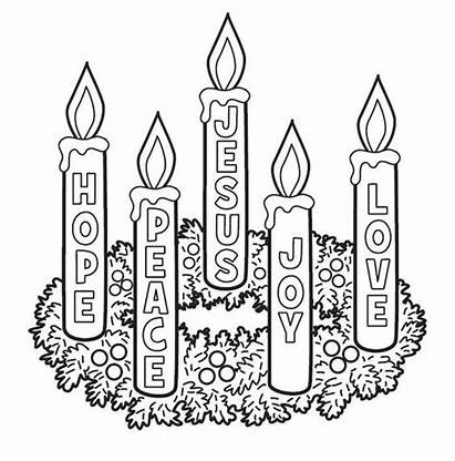 Advent Pages Candles Coloring Printable Sunday Wreath