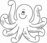 Coloring Pages Octopus Animals Printable Preschool Worksheets Kindergarten Crafts Dibujos Para Colorear sketch template