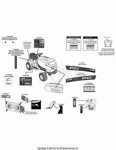 Mtd 13w2771s031  Lt4200   2012  Parts Diagram For Label