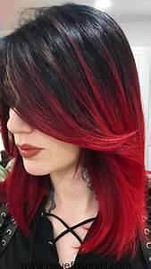 Ombré Hair Rouge : schwarz rot ombre haarfarbe haare in 2019 ~ Melissatoandfro.com Idées de Décoration
