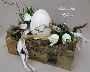 Floristik Gestecke Selber Machen : osterdeko gesteck fr hling ostern gro es fundst ck ein designerst ck von deko idee eolion ~ Watch28wear.com Haus und Dekorationen