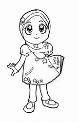 Muslim Coloring Pages Lady Ana Drawing Colouring Printable Getdrawings sketch template