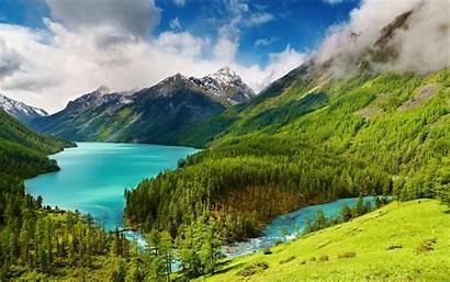 Nature Pemandangan Indah Danau Laptop Lake Russia