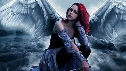 Angel Angels Fallen Wallpapers Desktop Gothic Anime