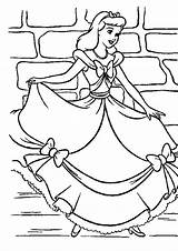Cinderella Coloring Going Party Pages Print sketch template